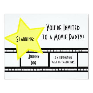 Fiesta de la película invitación 10,8 x 13,9 cm