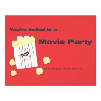 """Fiesta de la película invitación 4.25"""" x 5.5"""""""
