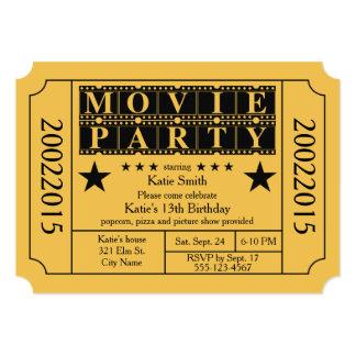 """Fiesta de la película invitación 5"""" x 7"""""""