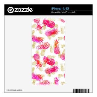 Fiesta de la piña calcomanía para el iPhone 4