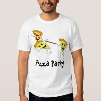 Fiesta de la pizza con el texto playeras