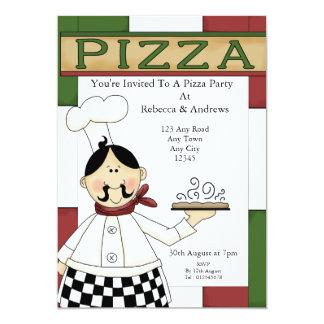 """Fiesta de la pizza invitación 5"""" x 7"""""""