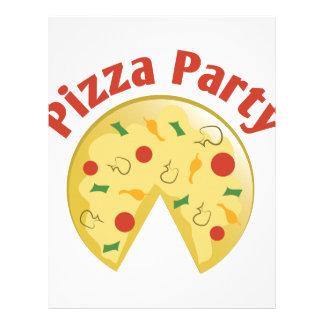 Fiesta de la pizza membrete a diseño