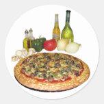 Fiesta de la pizza pegatina