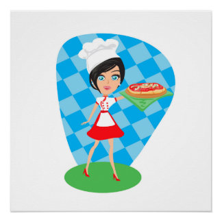 Fiesta de la pizza perfect poster