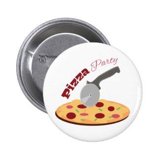 Fiesta de la pizza pin redondo 5 cm