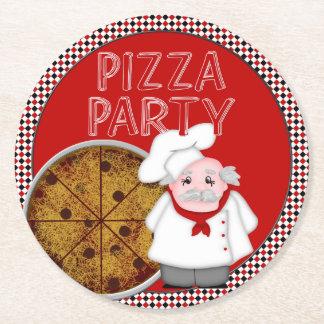 Fiesta de la pizza, sistema del estilo posavasos desechable redondo