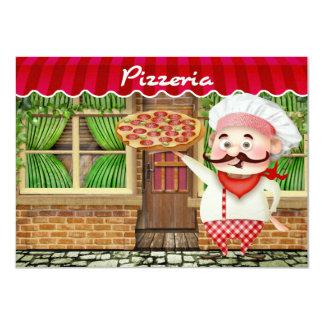 """Fiesta de la pizza - SRF Invitación 4.5"""" X 6.25"""""""