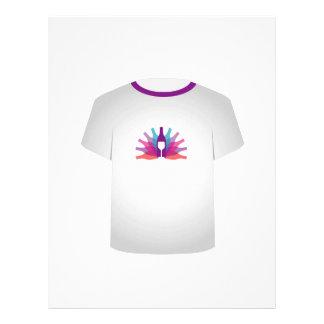 Fiesta de la plantilla de la camiseta membretes personalizados
