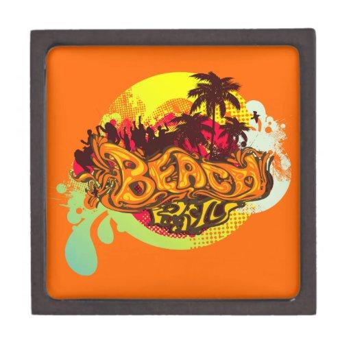 Fiesta de la playa caja de joyas de calidad