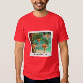 ¡Fiesta de la playa!!! Camiseta Polera