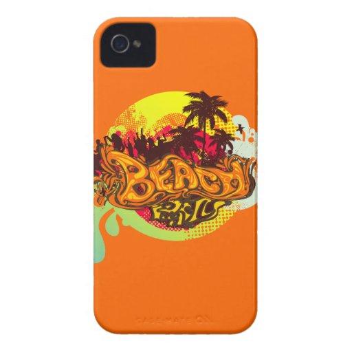 Fiesta de la playa Case-Mate iPhone 4 cárcasas