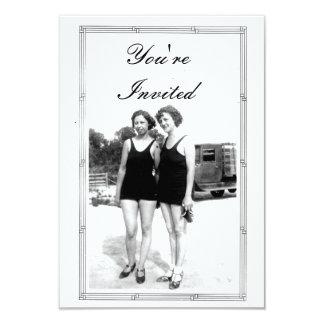 """Fiesta de la playa de los años 20 del vintage invitación 3.5"""" x 5"""""""