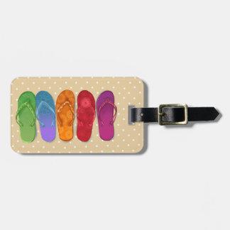 Fiesta de la playa de los deslizadores - puntos de etiquetas para equipaje