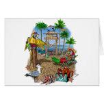 Fiesta de la playa de los loros felicitación