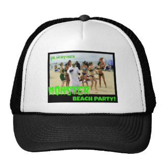 Fiesta de la playa del monstruo gorros bordados
