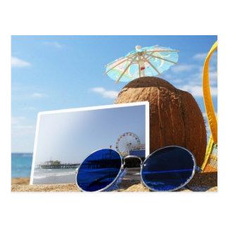 Fiesta de la playa del verano del embarcadero de postales