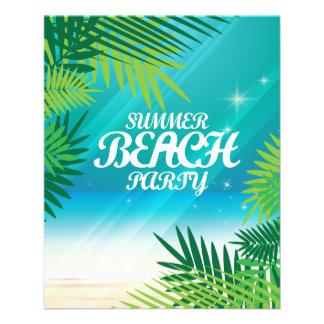 """Fiesta de la playa del verano folleto 4.5"""" x 5.6"""""""