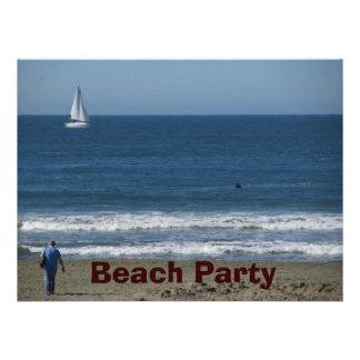 Fiesta de la playa anuncio personalizado