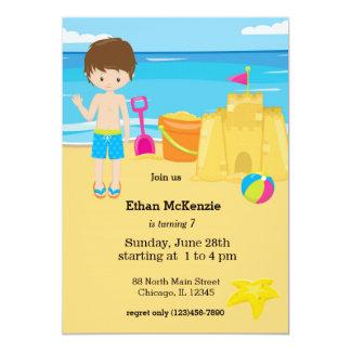 """Fiesta de la playa invitación 5"""" x 7"""""""