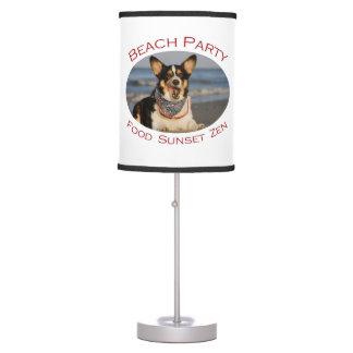 Fiesta de la playa lámpara de mesa
