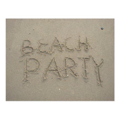 Fiesta de la playa postal