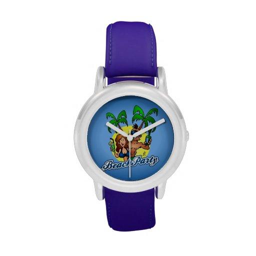 Fiesta de la playa reloj