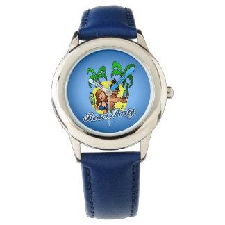 Fiesta de la playa reloj de mano