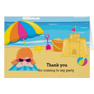 Fiesta de la playa tarjeta de felicitación