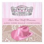 Fiesta de la princesa cumpleaños de la vaquera comunicados