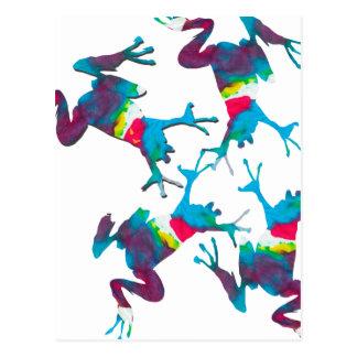 Fiesta de la rana del arco iris tarjetas postales