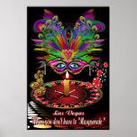 """Fiesta de la reina de Vegas del casino 40"""" X """" 60  Poster"""