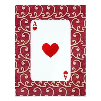 Fiesta de la tarjeta/del puente - SRF Invitación 10,8 X 13,9 Cm