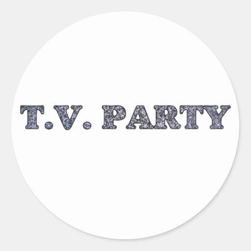 Fiesta de la TV Pegatina Redonda