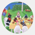 Fiesta de Labrador Pegatinas Redondas