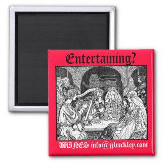 ¿fiesta de las Edades Medias entreteniendo VIN Imán Para Frigorífico
