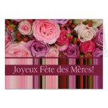 Fiesta de las Madres french Rosado y de stripes Mo Tarjetón