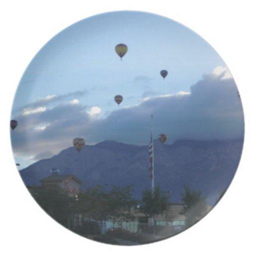 Fiesta de las montañas y del globo de Albuquerque Platos