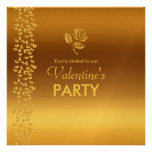 Fiesta de las tarjetas del día de San Valentín de  Invitaciones Personalizada