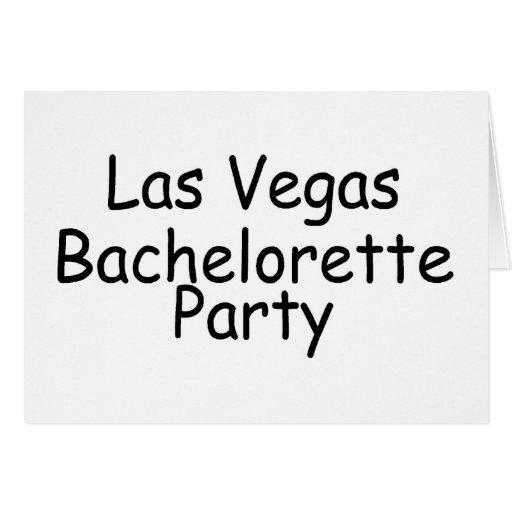 Fiesta de Las Vegas Bachelorette Tarjeta De Felicitación