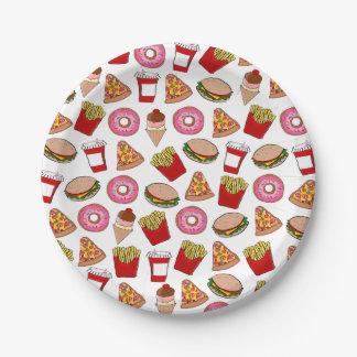 Fiesta de los alimentos de preparación rápida platos de papel