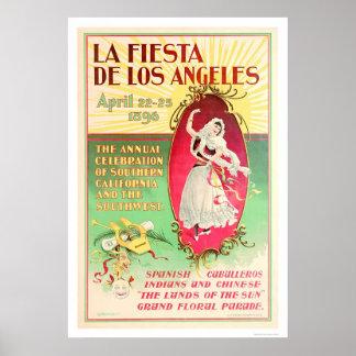 Fiesta de Los Ángeles 1896 del La Póster