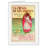 Fiesta de Los Ángeles 1896 del La Tarjeta De Felicitación