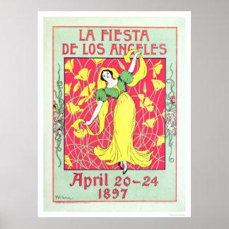 Fiesta de Los Ángeles 1897 del La Poster