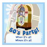 """Fiesta de los años 50 invitación 5.25"""" x 5.25"""""""