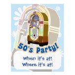 Fiesta de los años 50 tarjeta publicitaria