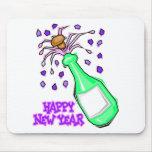 Fiesta de los Años Nuevos de las camisetas del fie Tapetes De Ratón