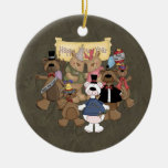 Fiesta de los Años Nuevos de los osos Ornaments Para Arbol De Navidad