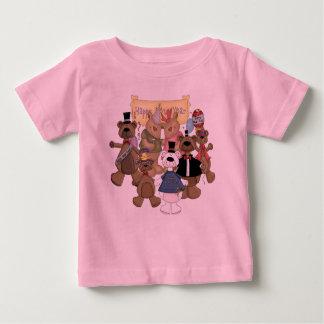 Fiesta de los Años Nuevos de los osos Playera De Bebé
