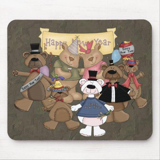 Fiesta de los Años Nuevos de los osos Tapetes De Raton